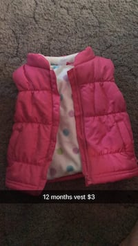 pink and white bubble jacket Janesville, 53548