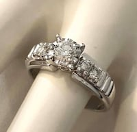 14k white gold custom diamond engagement ring *Compare at $2,800+ Vaughan, L4J