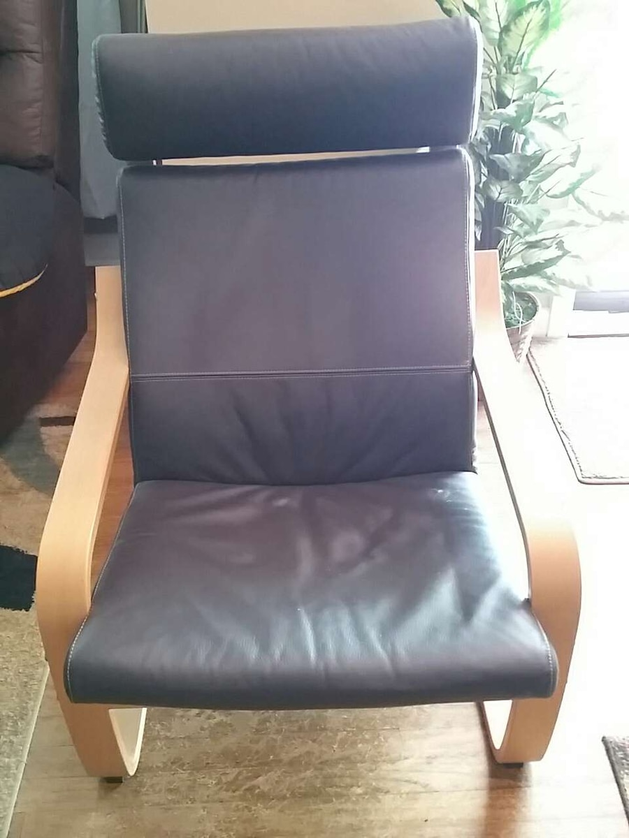 Ikea Poang Leather Chair Ottoman In Taylors Letgo