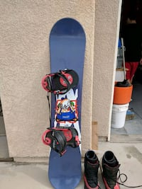 Volki snowboard and Van Boots