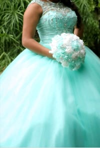 Quinceanera dress size 8 color mint  1371 mi