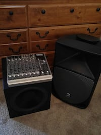Powered speaker with sub and mixer Edmonton, T6J