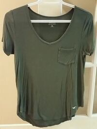 Hollister Olive Green Scoop Neck T-Shirt