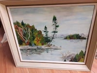 painting of trees with brown wooden frame Toronto, M1P 3H4