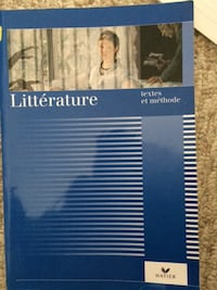 Textbook: Litterature -textes et methode (French Edition  Paperback) – Jan 1, 1994 - $35.  Mississauga Mississauga