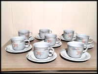 KAHLA fine China. Vintage Set of tea / coffee cups Kirkland, H9J 1N2