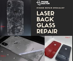 iPhone back glass repalcement with laser machine.