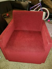 red fabric padded sofa chair Tampa, 33626
