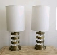 Brushed Brass and Acrylic Table Lamps Chicago, 60647