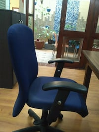 blue leather padded rolling armchair Bengaluru, 560071