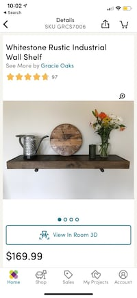 Industrial wall shelf (1 available) Toronto, M6J 3K5