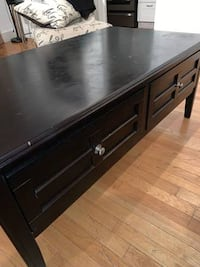 Ashley Henning dark brown coffee table WASHINGTON