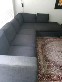 gray fabric sectional sofa