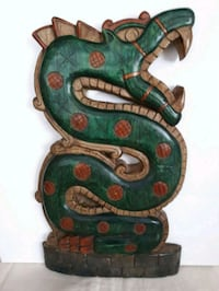 Wood Carved Wall Asian Dragon Pointe-Claire
