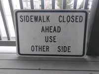 Metal sidewalk closed sign perfect for man cave art Vancouver, 98665