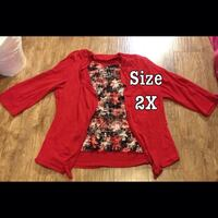 red and white long-sleeved shirt Winnipeg, R2L 1Z9