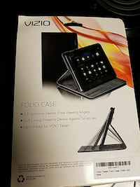 Black vizio folio case box Franklin, 37064