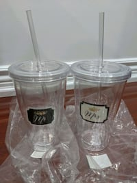 Mr and Mrs tumblers with straws Mississauga