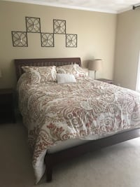 white and gray floral bed comforter set BOSTON