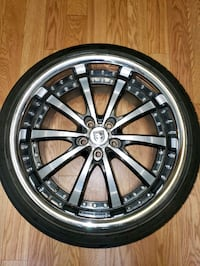 3 Lexani Luxury Alloy Wheels with tires almost new Silver Spring, 20904