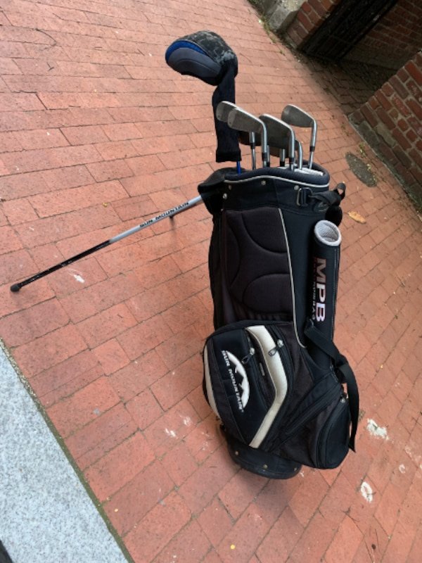(Left-Handed) Taylor Made LCG Burner Irons (3-P), Pinemeadow Doublewall Driver, & Sun Mountain Bag