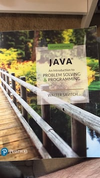 java an introductionto problem solving & programming walter savitch Oakton