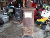 WOOD STOVE ANTIQUE PARLOR Langley