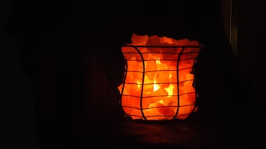Basket Lamp, which Himalayan salt chips. 16-20 lbs