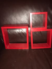 Red Shadow Boxes/Shelves Calgary, T2A 6T2