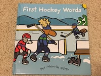 First hockey words hardcover book Port Coquitlam