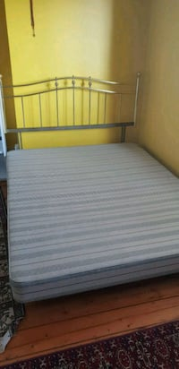 white and brown bed mattress Greater London, NW11 7ES