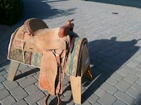 brown and white leather horse saddle Payson, 85541