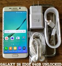 Galaxy S6 Edge GSM UNLOCKED 64GB + Accessories  37 km