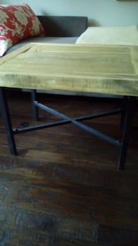 Wood table metal base 3486 km