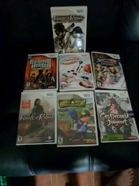 seven assorted Wii game  Brampton, L6Z 1C8
