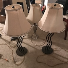 three table lamps