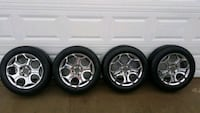 16 inch chrome wheels with two tire sets West Columbia, 29170
