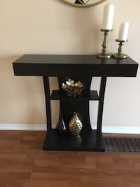Dark brown wooden concealed table delivery included  Toronto, M1E 4Y5