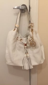 white Michael Kors leather tote bag Gaithersburg, 20879