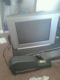 gray CRT TV with remote London, N6E 1V8