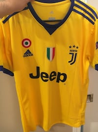 Juventus away yellow soccer jersey