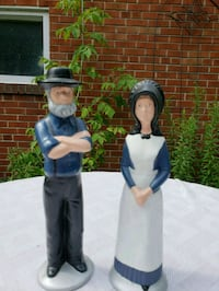"SET OF 2 AMISH MAN AND WOMAN FIGURES 12"" TALL  Mississauga, L5E 2X1"