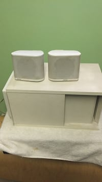 White 2.1 bose channel speakers