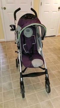 Purple and Gray Stroller