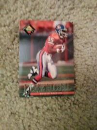 Denver Broncos Wr Derek Russell Card Washington