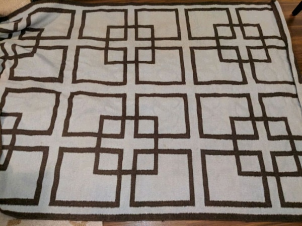 Blue and brown area rug
