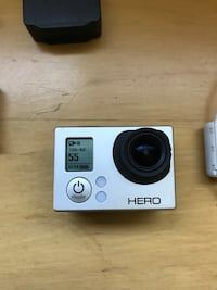 Go pro hero 3 - included with 3 batteries, Touchscreen replay attachment.. waterproof housing missing mounting screw to water proof housing.. Oakland, 94608