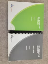 two green and gray workbooks