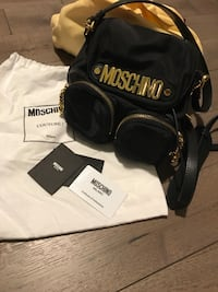 Women's black Moschino knapsack