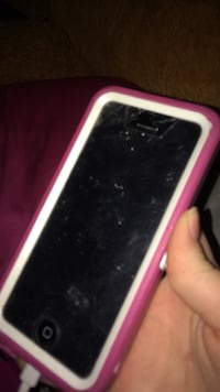 Iphone 5c pink with a little crack